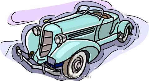 vintage automobile, car Royalty Free Vector Clip Art illustration vc007347