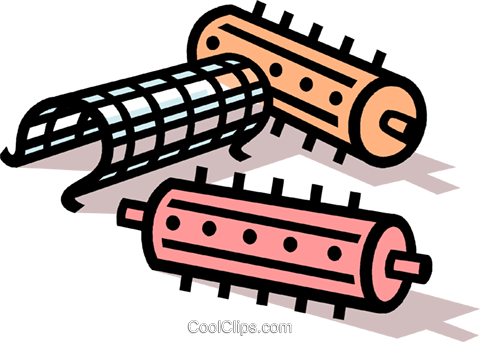Hair Curlers Royalty Free Vector Clip Art Illustration