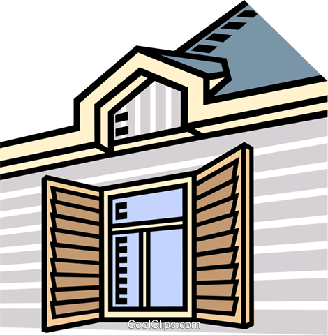 building, window Royalty Free Vector Clip Art illustration vc007429