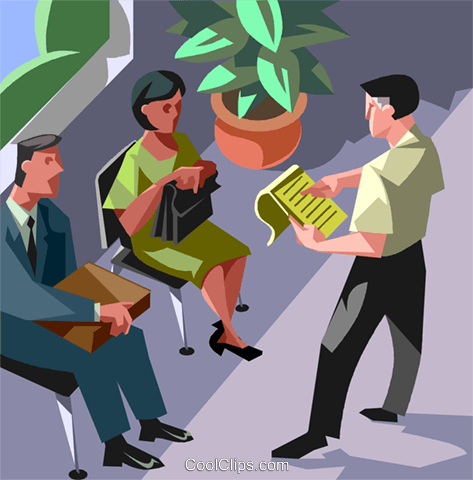employment line, job interview Royalty Free Vector Clip Art illustration vc007445