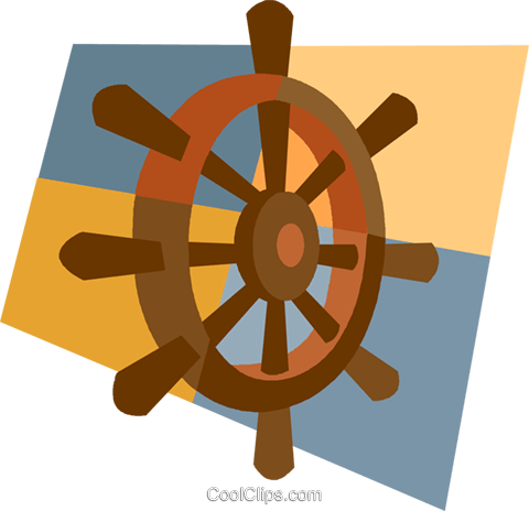 helmsman's wheel Royalty Free Vector Clip Art illustration vc007491