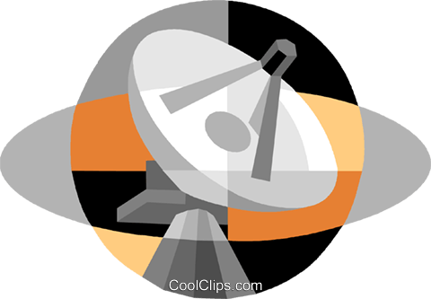 satellite dish Royalty Free Vector Clip Art illustration vc007502