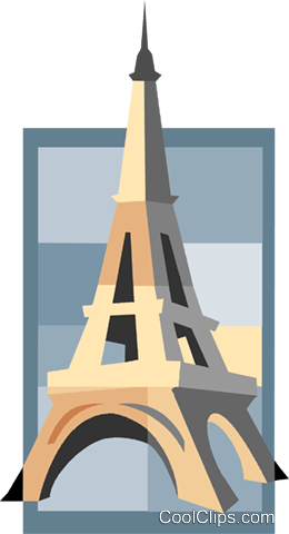 Eiffel tower Royalty Free Vector Clip Art illustration vc007507