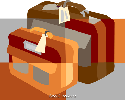 luggage, baggage Royalty Free Vector Clip Art illustration vc007510
