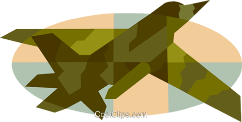 military jet aircraft Royalty Free Vector Clip Art illustration vc007511