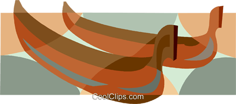 canoes Royalty Free Vector Clip Art illustration vc007515