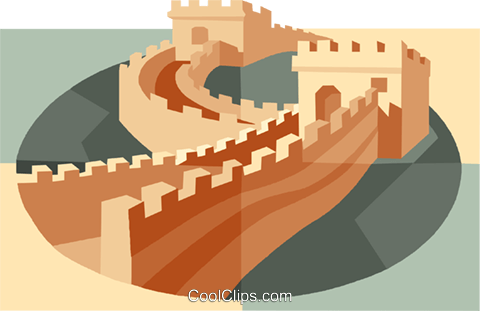 Great Wall of China Royalty Free Vector Clip Art illustration vc007519