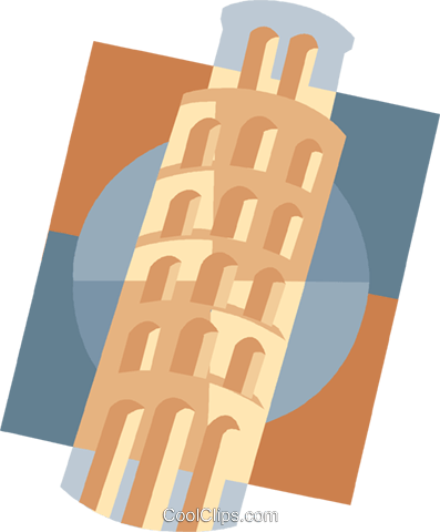 Leaning Tower of Pisa Royalty Free Vector Clip Art illustration vc007527