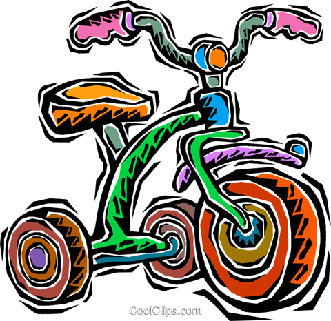 tricycle Royalty Free Vector Clip Art illustration vc007616