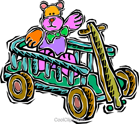 wagon Royalty Free Vector Clip Art illustration vc007634