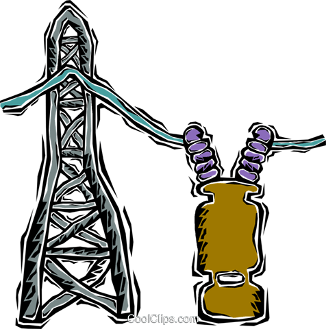 hydro tower Royalty Free Vector Clip Art illustration vc007644