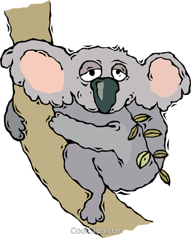 koala bear Royalty Free Vector Clip Art illustration vc007692