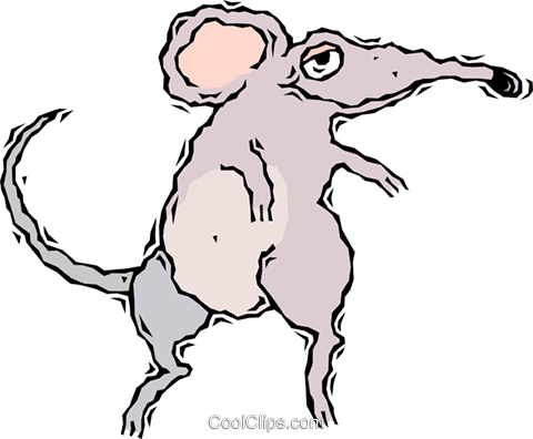 mouse Royalty Free Vector Clip Art illustration vc007723
