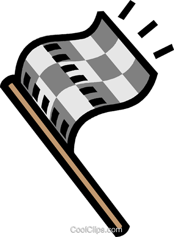 race finish flag Royalty Free Vector Clip Art illustration vc007727