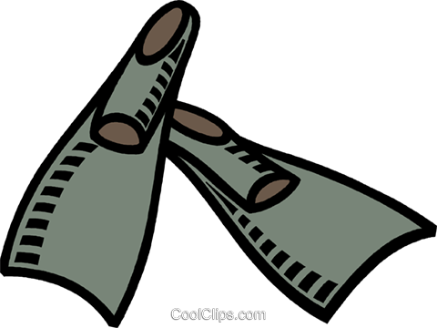 Palmes De Natation Vecteurs De Stock Et Clip Art Vectoriel Vc007731 Coolclips Com