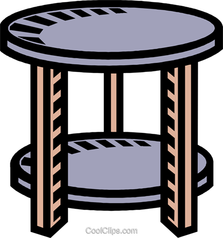 round table, pedestal Royalty Free Vector Clip Art illustration vc007744