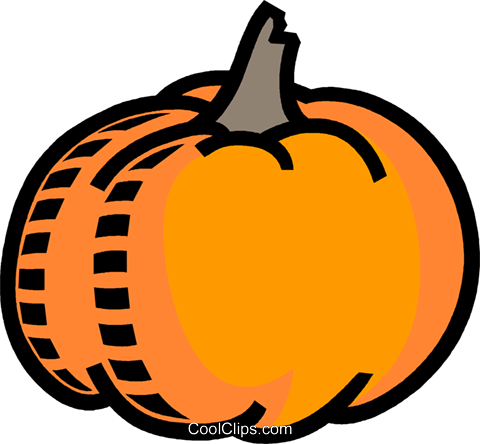 pumpkin, Halloween, vegetable Royalty Free Vector Clip Art illustration vc007745
