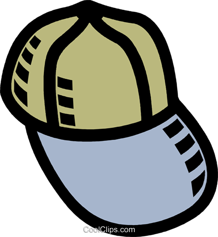 baseball hat Royalty Free Vector Clip Art illustration vc007751
