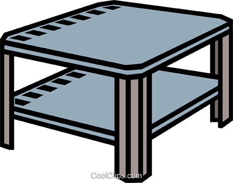 Coffee Table End Royalty Free Vector Clip Art Illustration