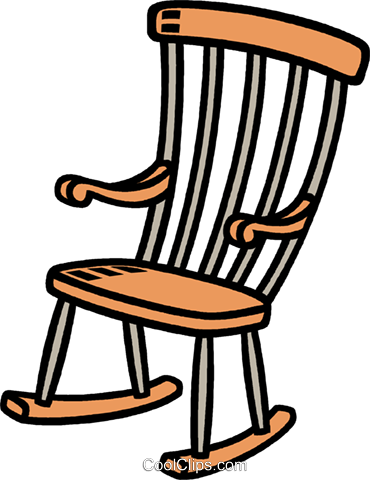 Schaukelstuhl vektor clipart bild vc007762 for Rocking chair schaukelstuhl