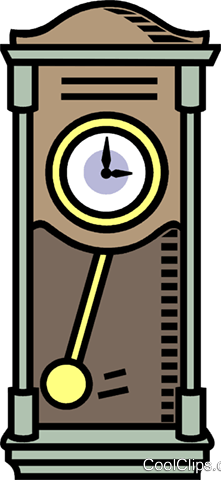 grandfather clock Royalty Free Vector Clip Art illustration vc007769