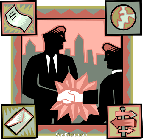 shaking hands Royalty Free Vector Clip Art illustration vc007817