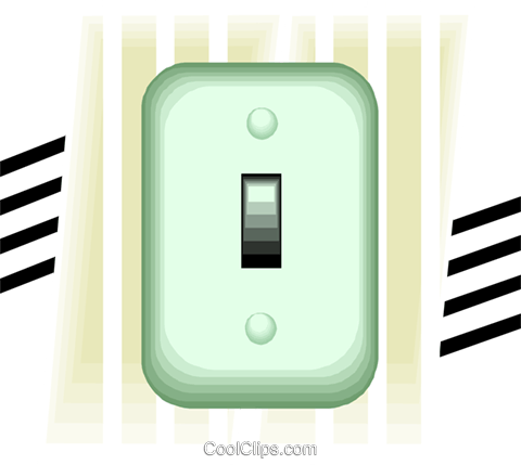 light switch Royalty Free Vector Clip Art illustration vc007851
