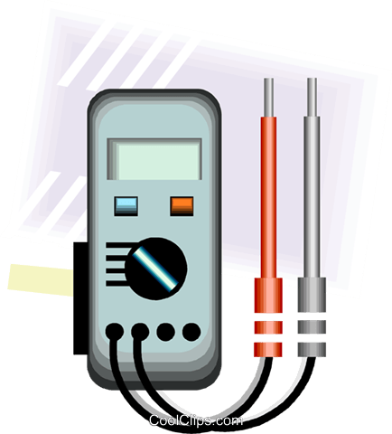 current meter Royalty Free Vector Clip Art illustration vc007855