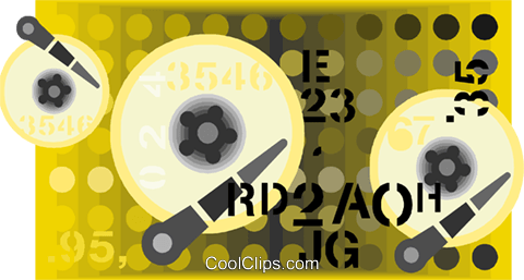 hard drive Royalty Free Vector Clip Art illustration vc007860