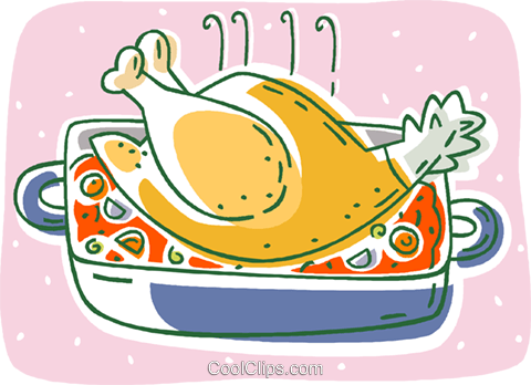 turkey, cooked Royalty Free Vector Clip Art illustration vc007913