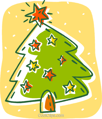 Christmas tree Royalty Free Vector Clip Art illustration vc007914
