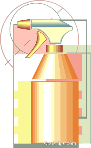 spray bottle drafting design Royalty Free Vector Clip Art illustration vc007953