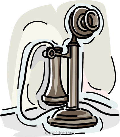 telephone, old telephone Royalty Free Vector Clip Art illustration vc007955