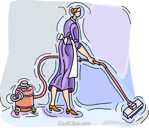 vacuuming Royalty Free Vector Clip Art illustration vc007975