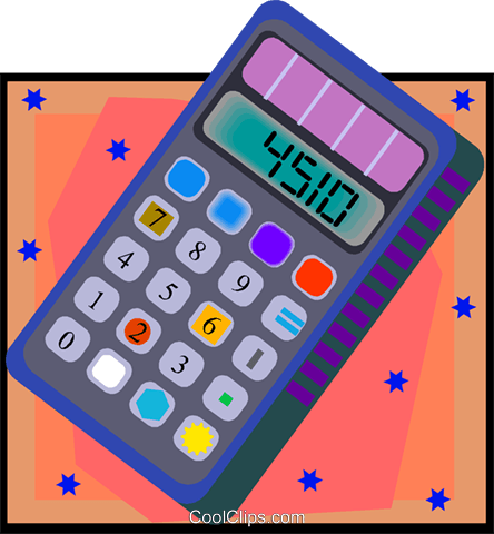 calculator Royalty Free Vector Clip Art illustration vc007984