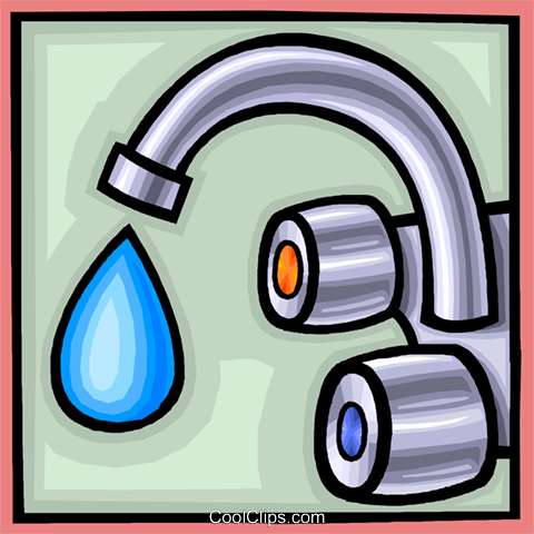 water as a precious commodity Royalty Free Vector Clip Art illustration vc007999