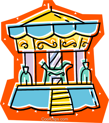 merry-go-round Royalty Free Vector Clip Art illustration vc008076