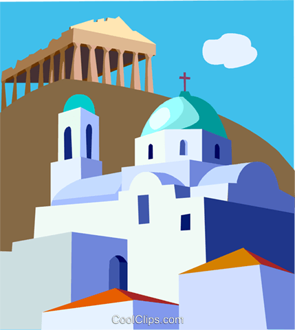 Parthenon, Greece Royalty Free Vector Clip Art illustration vc008092