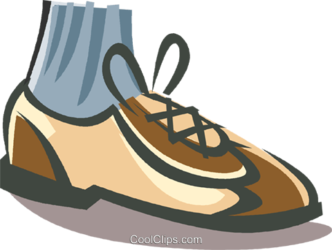 mans bowling shoe Royalty Free Vector Clip Art illustration vc008126