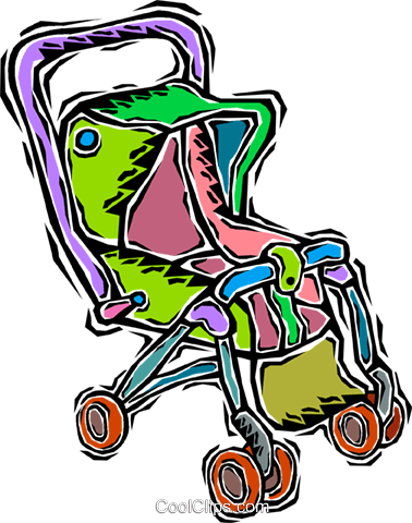 stroller, carriage Royalty Free Vector Clip Art illustration vc008134