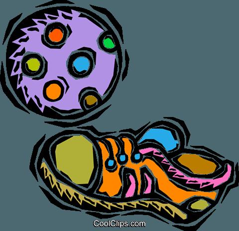 Kinder Fussball Schuh Vektor Clipart Bild Vc008145