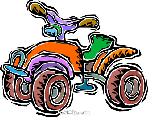child s 4 wheel drive bike royalty free vector clip art illustration rh search coolclips com