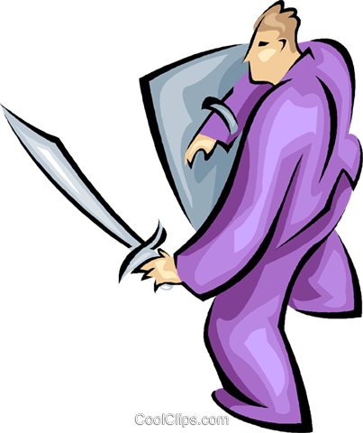 sword, fight Royalty Free Vector Clip Art illustration vc008174