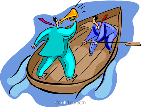 row boat Royalty Free Vector Clip Art illustration vc008177
