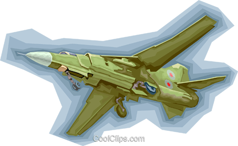 fighter jet Royalty Free Vector Clip Art illustration vc008178