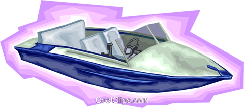 Speed boat, ski boat, boat, motor boat Royalty Free Vector Clip Art illustration vc008180