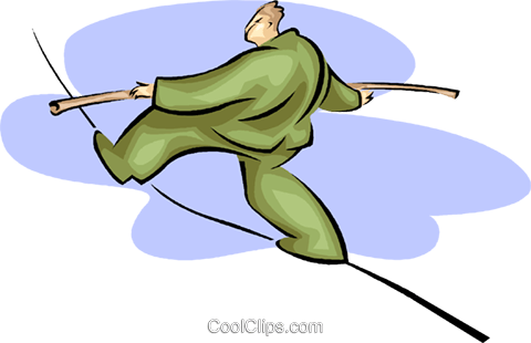 tightrope walker, balance Royalty Free Vector Clip Art illustration vc008188