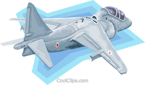 jet fighter Royalty Free Vector Clip Art illustration vc008189