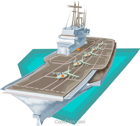 ship, aircraft carrier, military, navy Royalty Free Vector Clip Art illustration vc008192