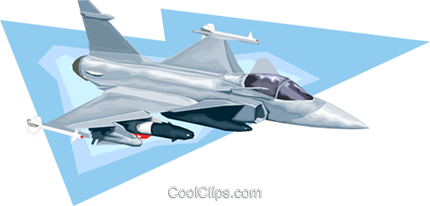 jet fighter Royalty Free Vector Clip Art illustration vc008195